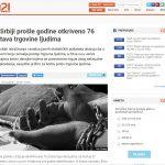 021 – U Srbiji prošle godine otkriveno 76 žrtava trgovine ljudima